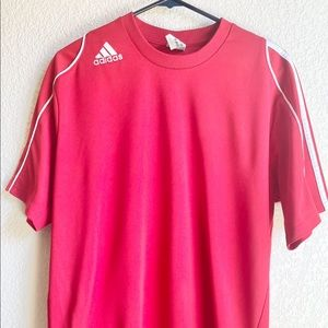 Adidas Clima Cool Boys Youth Med Red Soccer Jersey